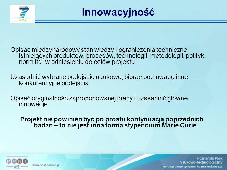 Opisać międzynarodowy stan wiedzy i ograniczenia techniczne istniejących produktów, procesów, technologii, metodologii, polityk, norm itd. w odniesien