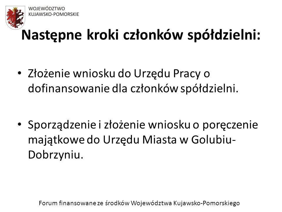 Forum finansowane ze środków Województwa Kujawsko-Pomorskiego 30 kwietnia podczas sesji Rady Miasta Golubia- Dobrzynia nasz wniosek o poręczenie majątkowe został rozpatrzony negatywnie.