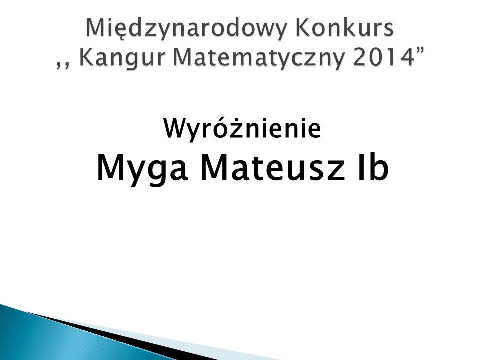 Wyróżnienie Myga Mateusz Ib