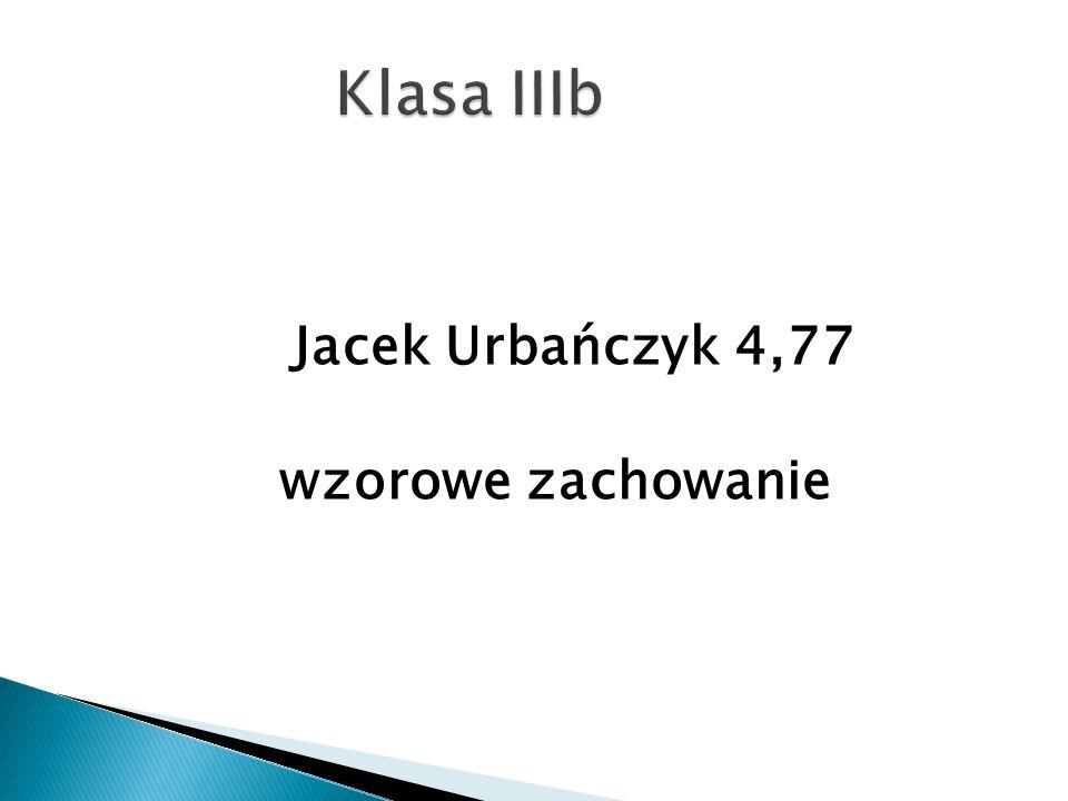 Jacek Urbańczyk 4,77 wzorowe zachowanie