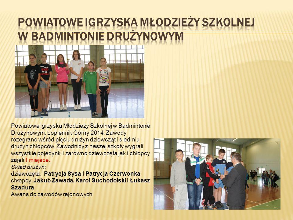 Powiatowe Igrzyska Młodzieży Szkolnej w Badmintonie Drużynowym.
