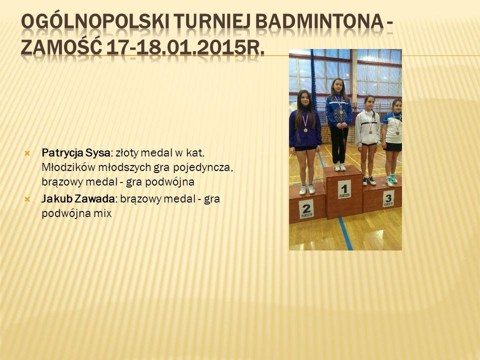 Finał Wojewódzki Igrzysk Młodzieży Szkolnej w Badmintonie Drużynowym Zamość 2014. W zawodach wzięło udział 18 drużyn. Nasi zawodnicy pokonali między i