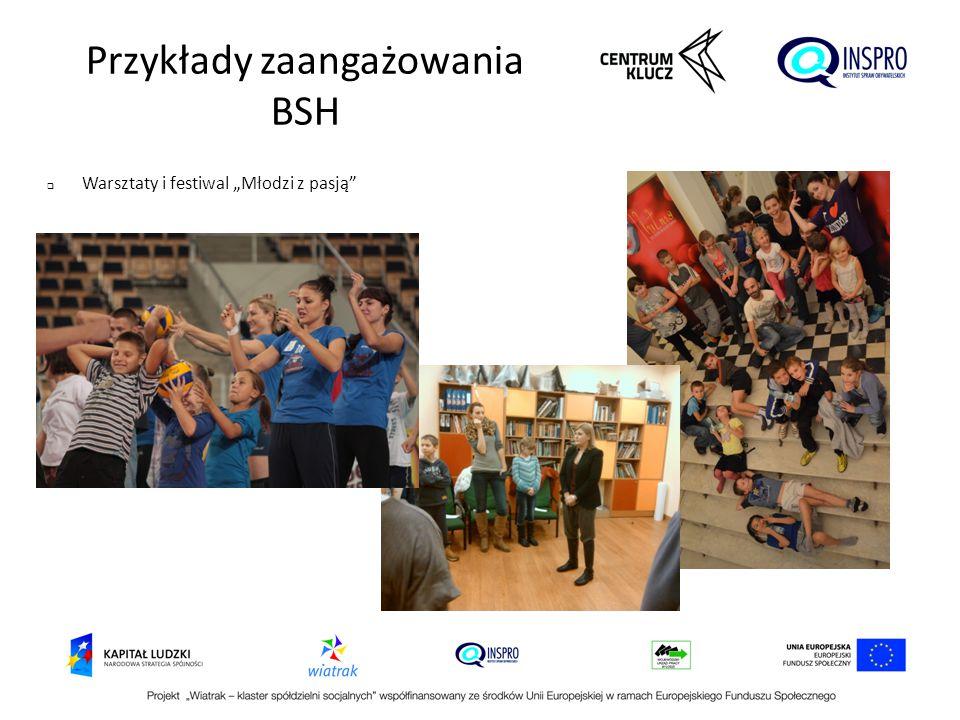 """ Warsztaty i festiwal """"Młodzi z pasją"""" Przykłady zaangażowania BSH"""