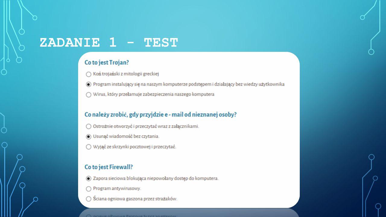 ZADANIE 1 - TEST