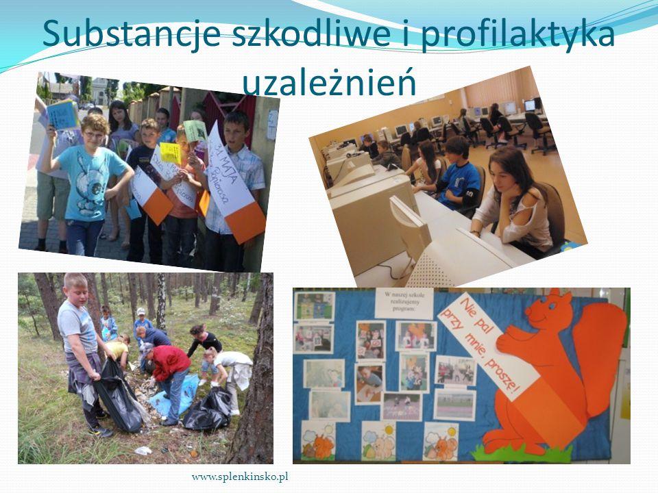 Substancje szkodliwe i profilaktyka uzależnień www.splenkinsko.pl