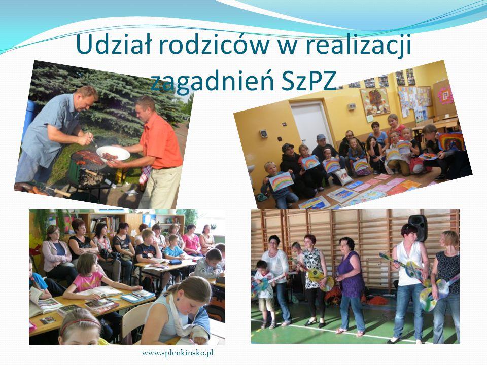 Udział rodziców w realizacji zagadnień SzPZ www.splenkinsko.pl