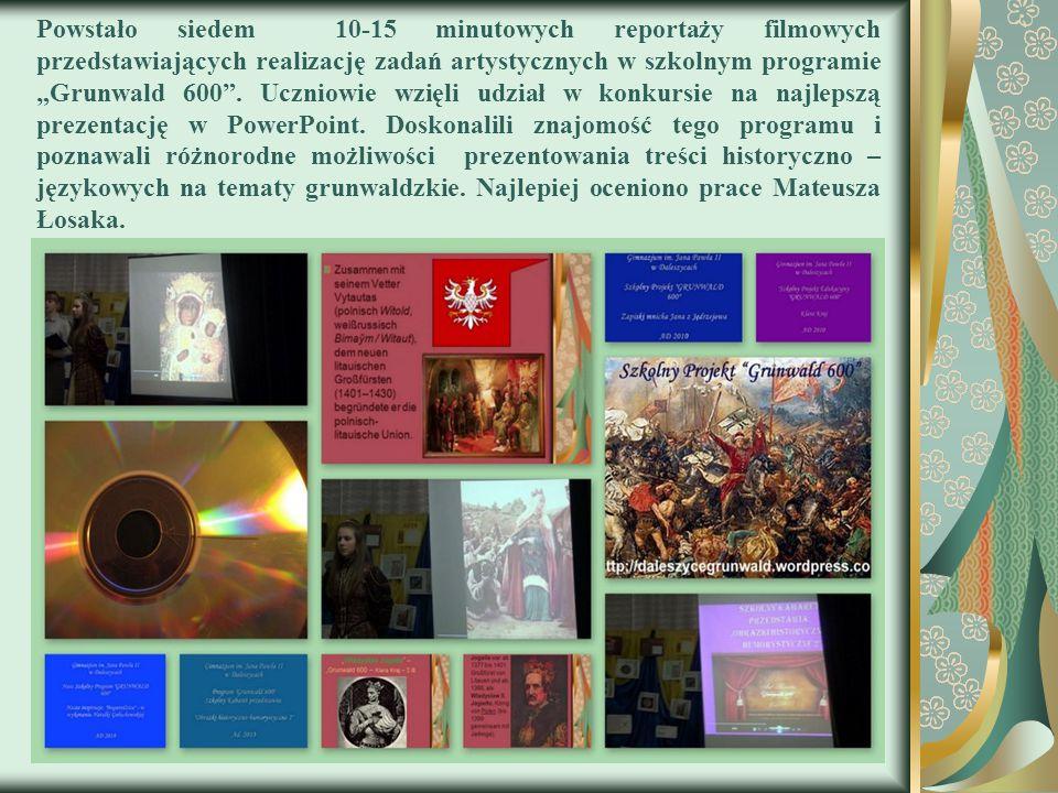 Jednym z najważniejszych zadań tego projektu było poszerzenie wiedzy historycznej na temat wydarzeń grunwaldzkich.