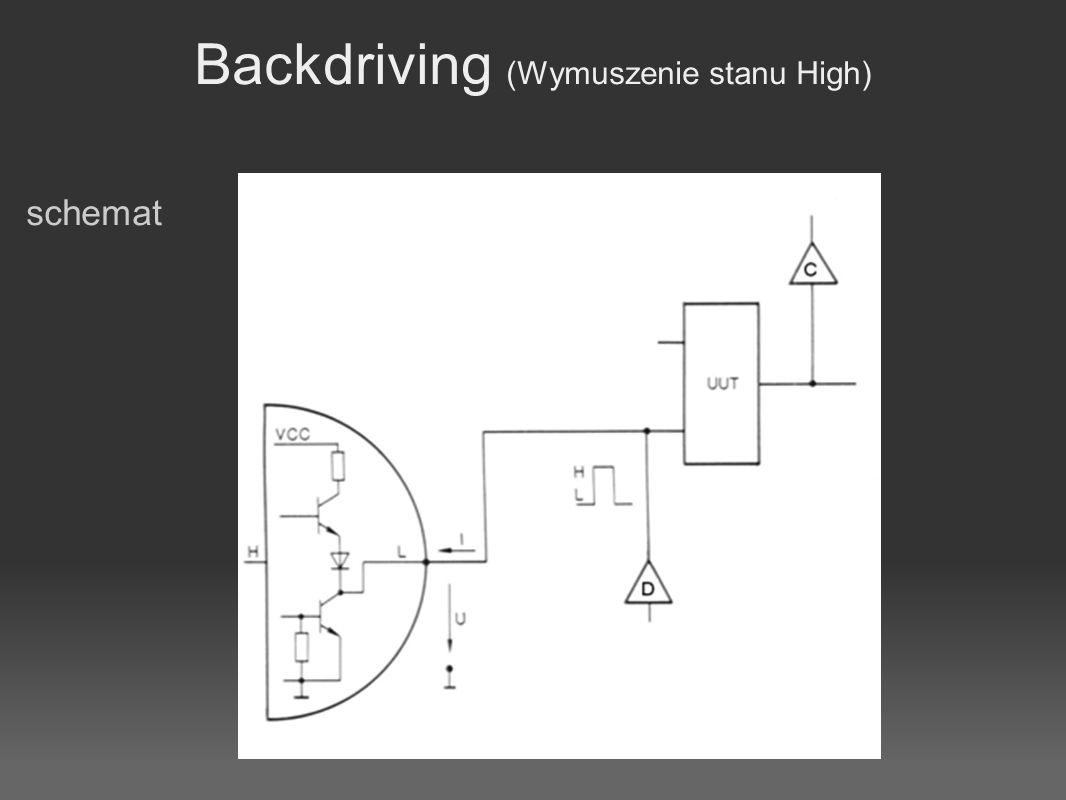 Backdriving (Wymuszenie stanu High) schemat