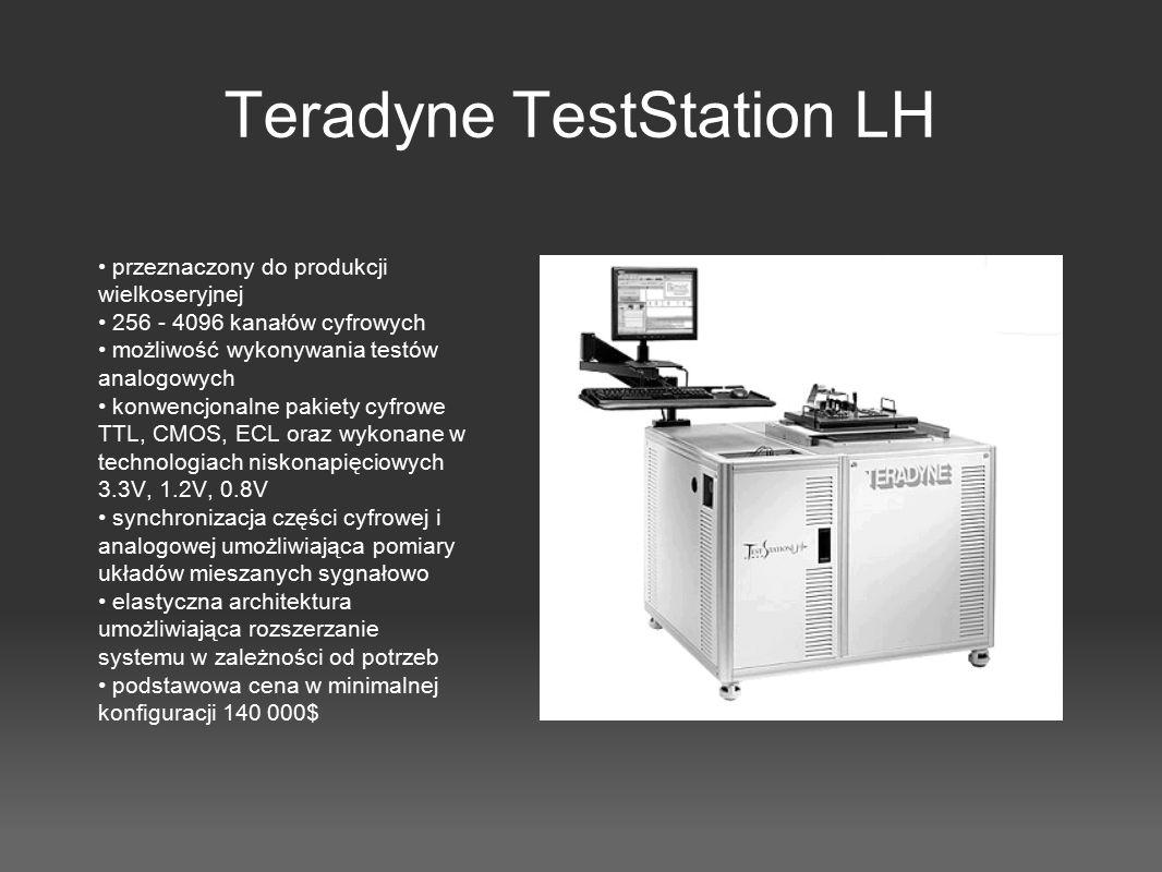 Teradyne TestStation LH przeznaczony do produkcji wielkoseryjnej 256 - 4096 kanałów cyfrowych możliwość wykonywania testów analogowych konwencjonalne