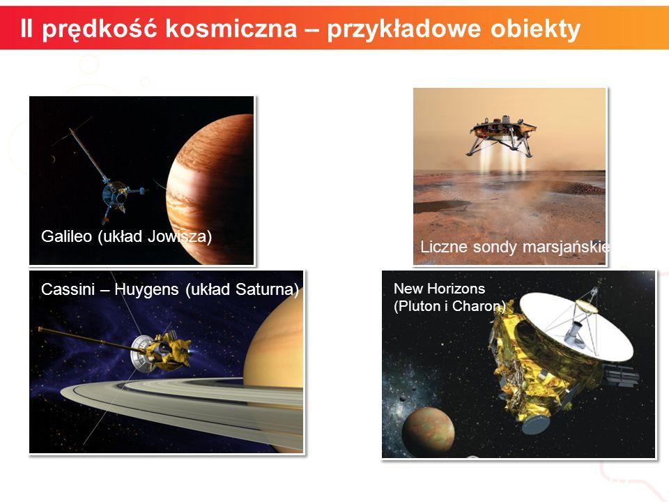 II prędkość kosmiczna – przykładowe obiekty informatyka + 10 Galileo (układ Jowisza) Liczne sondy marsjańskie Cassini – Huygens (układ Saturna) New Horizons (Pluton i Charon)