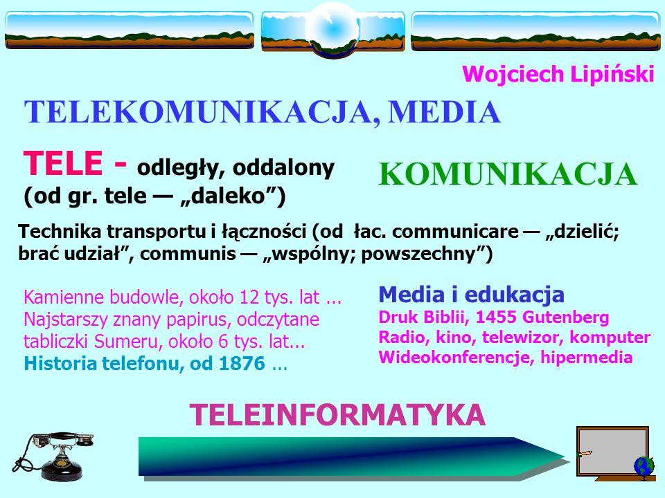 TELEKOMUNIKACJA, MEDIA TELE - odległy, oddalony (od gr.