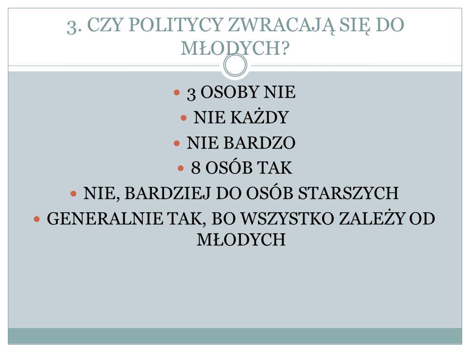 3. CZY POLITYCY ZWRACAJĄ SIĘ DO MŁODYCH.