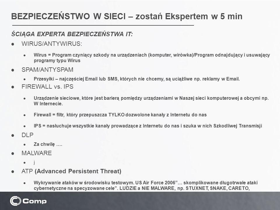ŚCIĄGA EXPERTA BEZPIECZEŃSTWA IT: Robaki (ang.