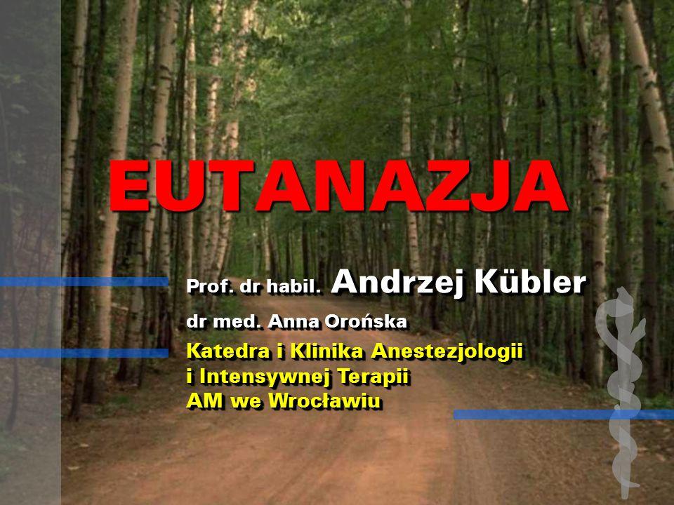 Postawy wobec eutanazji i wsp.