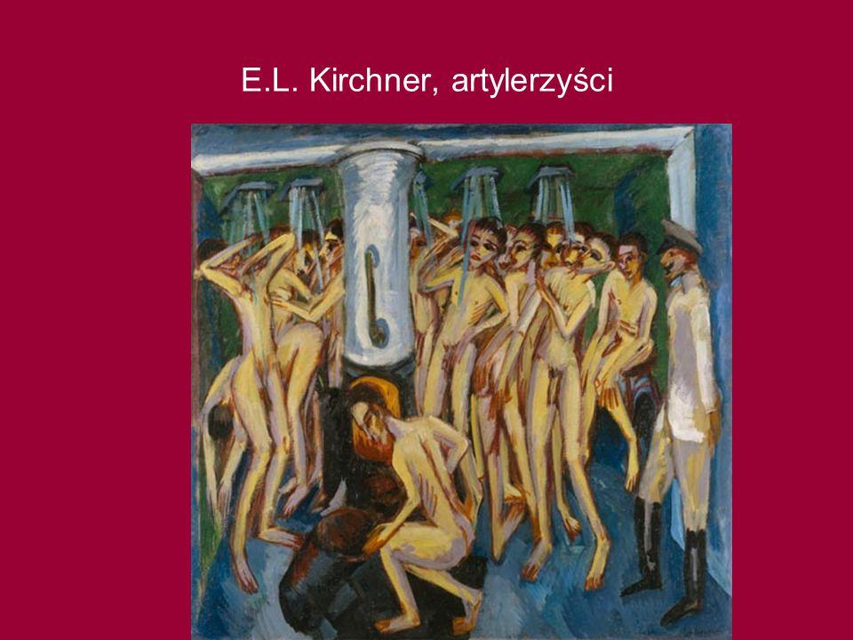 E.L. Kirchner, artylerzyści