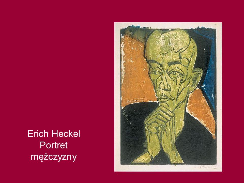 Erich Heckel Portret mężczyzny