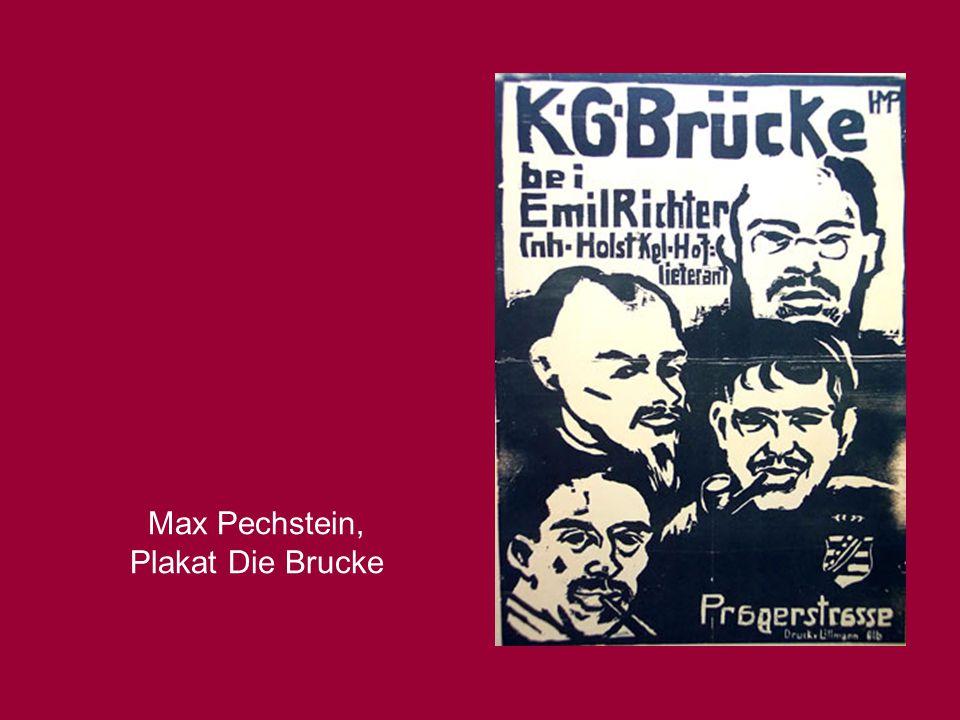 Max Pechstein, Plakat Die Brucke