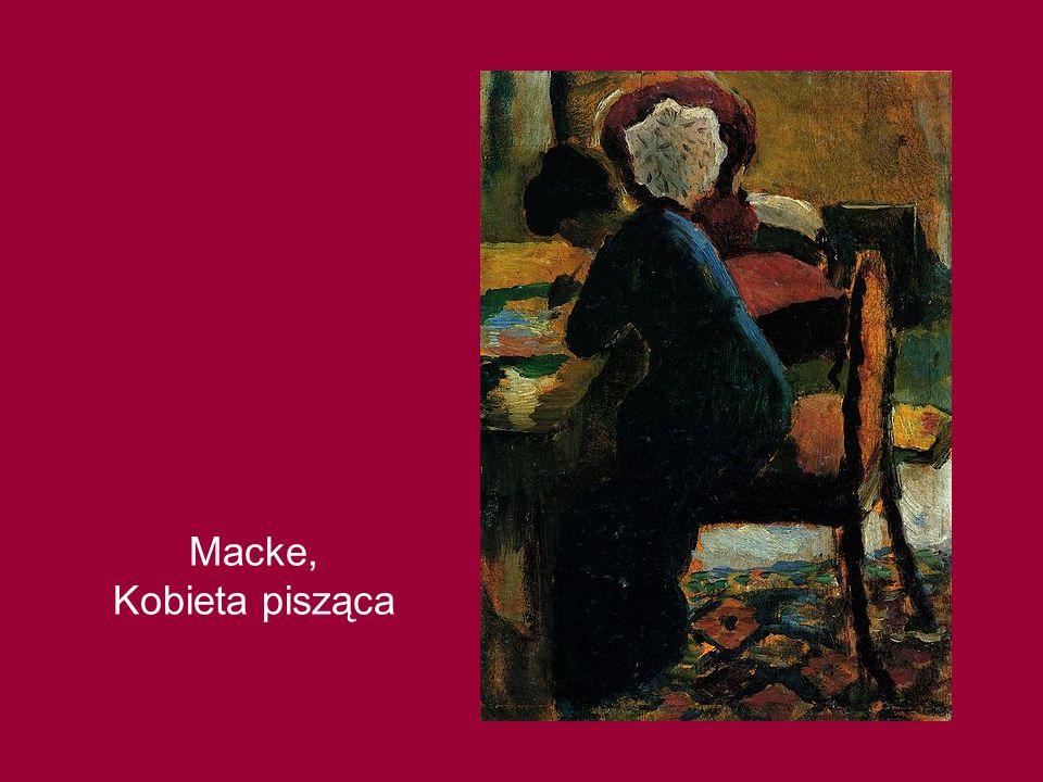 Macke, Kobieta pisząca