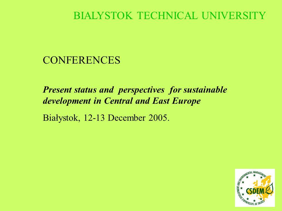 BOOKS In preparation: B.Łagowska: Biological Safety in Poland A.