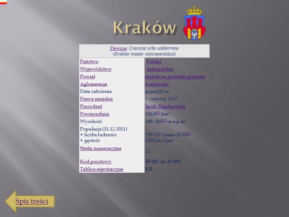 Spis treści Kraków