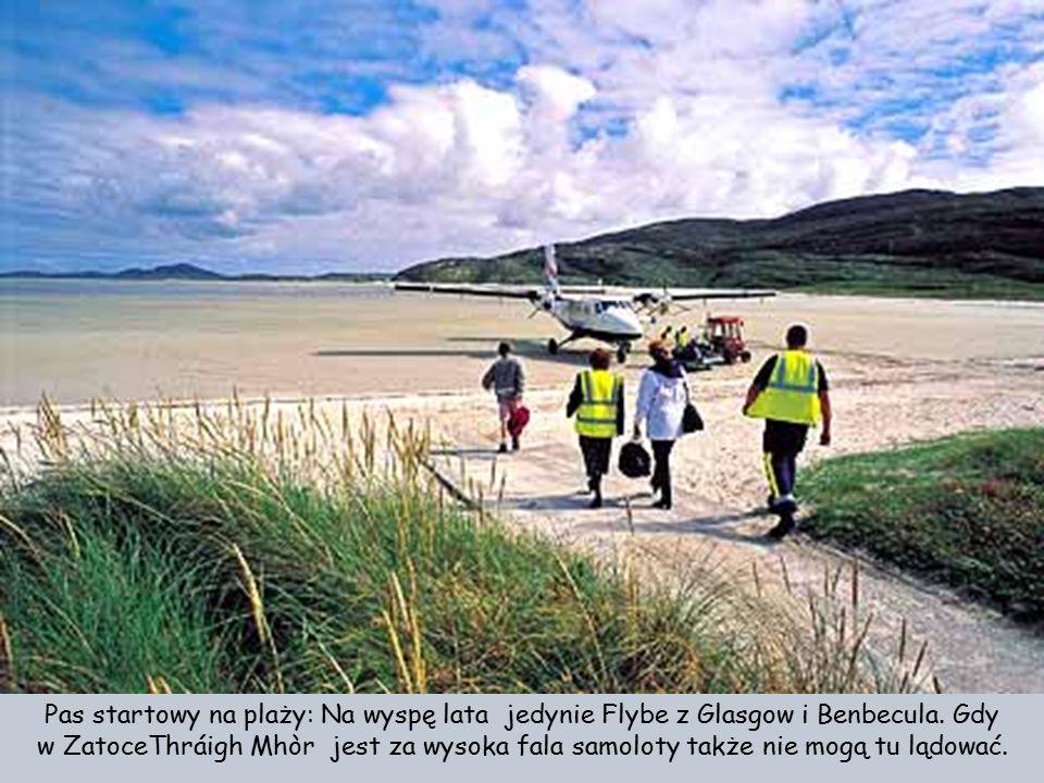 Na wyspie Barra pas startowy może być używany tylko w czasie odpływu morza.