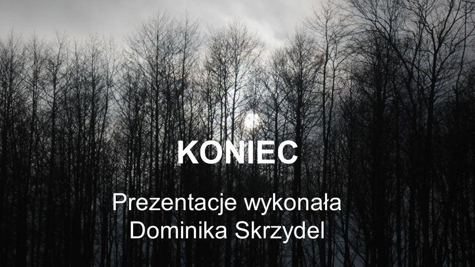 KONIEC Prezentacje wykonała Dominika Skrzydel