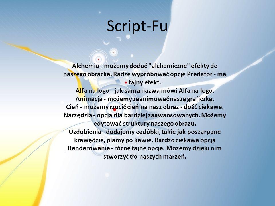 Script-Fu Alchemia - możemy dodać