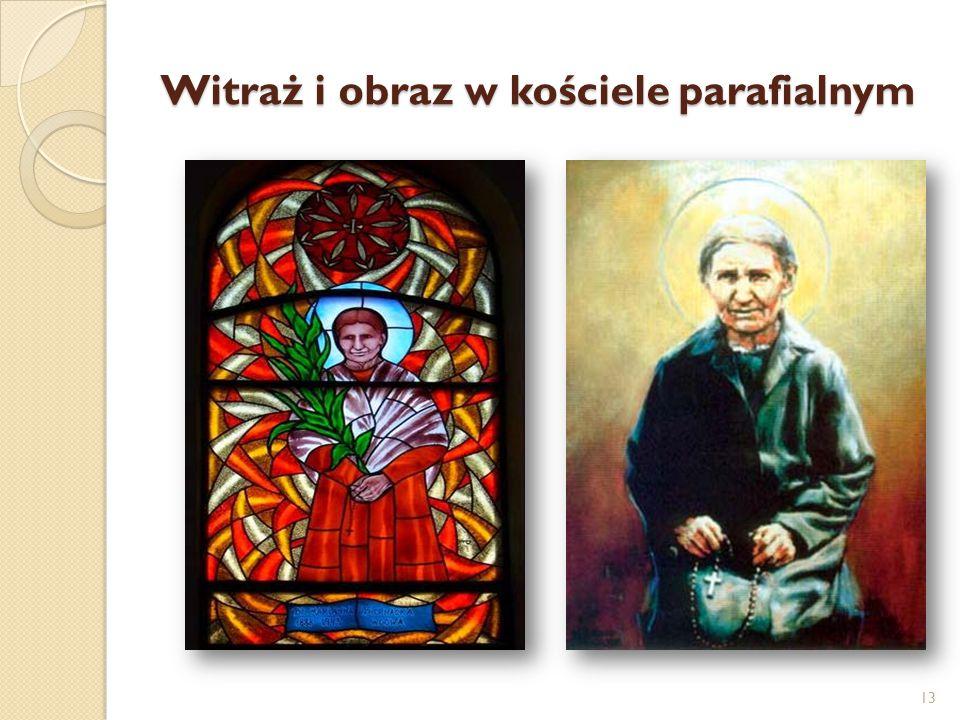 Witraż i obraz w kościele parafialnym 13