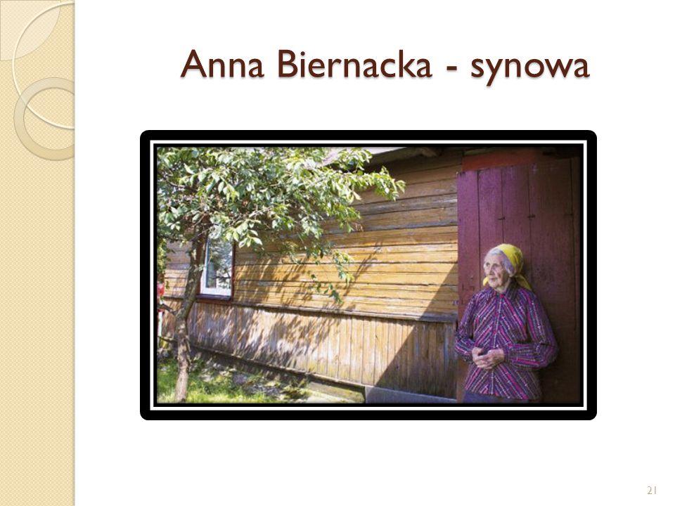 Anna Biernacka - synowa 21