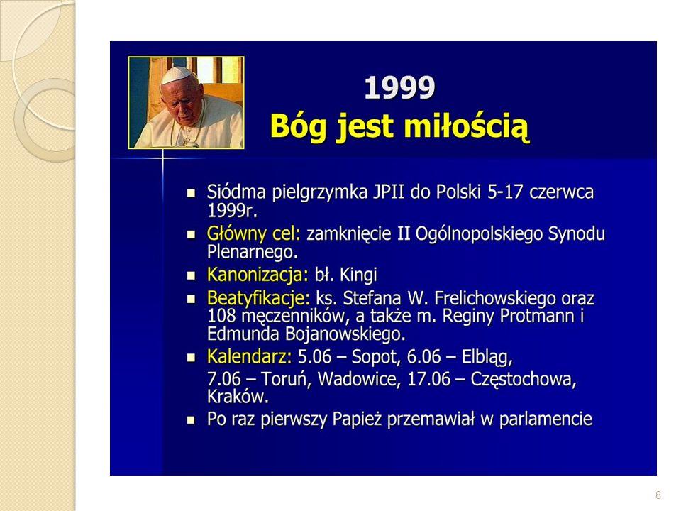 III.Pielgrzymka do Polski -1999 r.