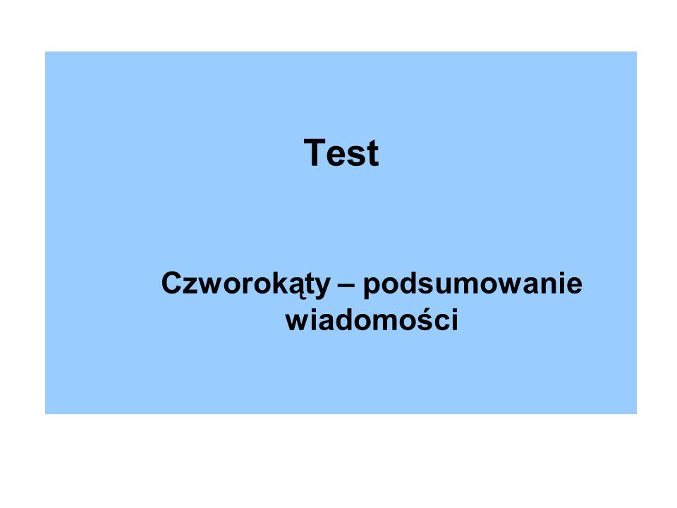 Test Czworokąty – podsumowanie wiadomości