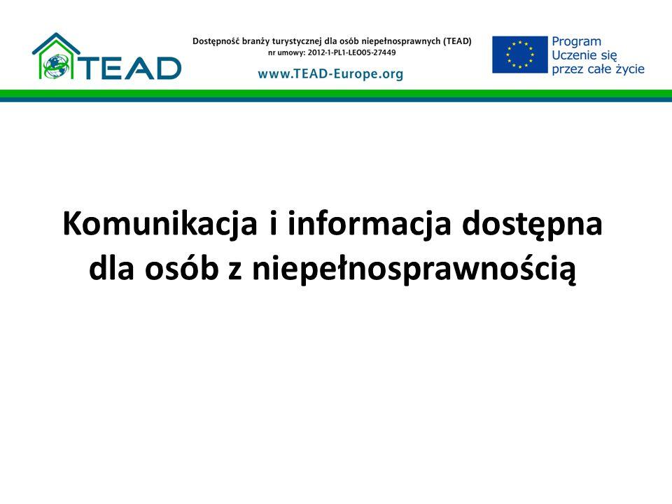 Komunikacja i informacja dostępna dla osób z niepełnosprawnością