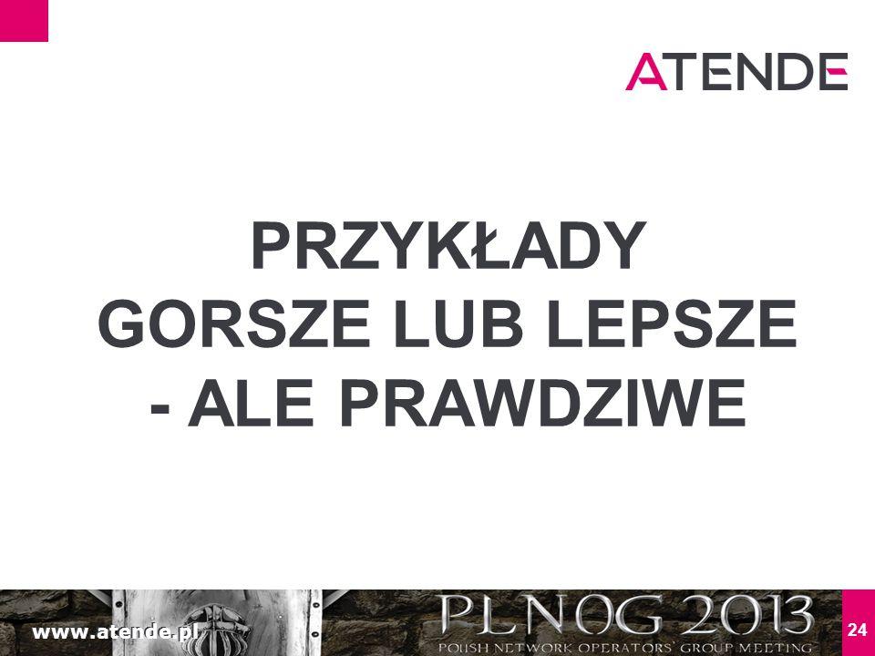 www.atende.pl 24 PRZYKŁADY GORSZE LUB LEPSZE - ALE PRAWDZIWE