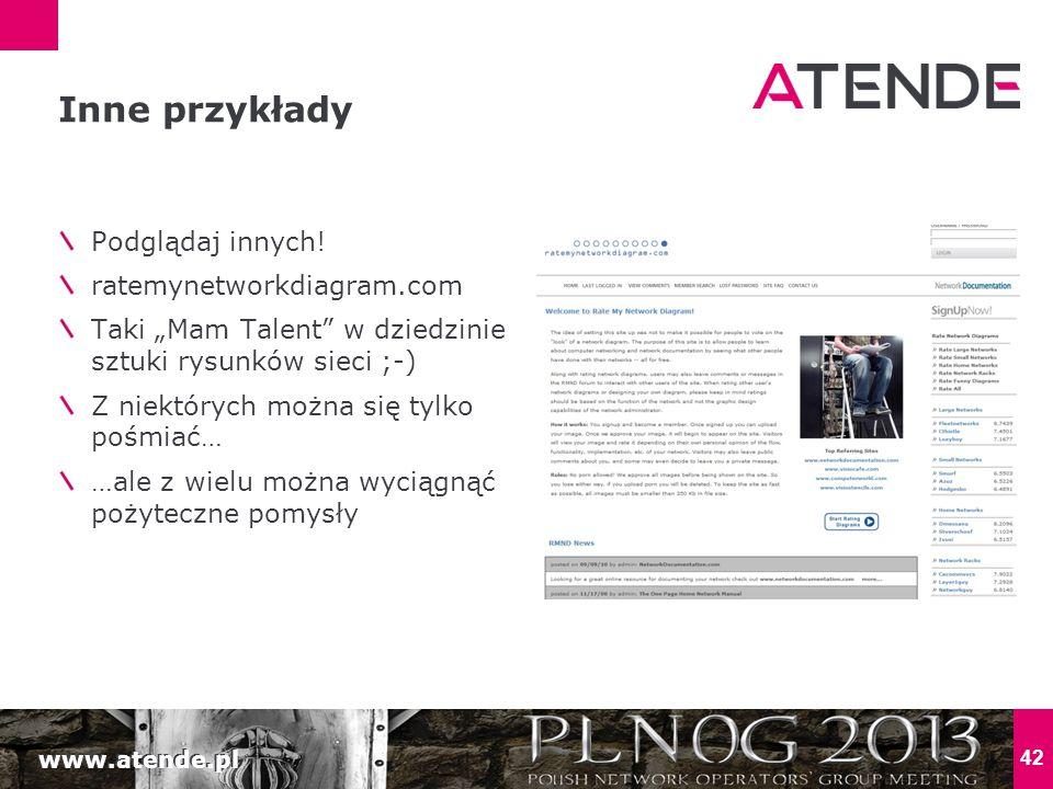 """www.atende.pl 42 Podglądaj innych! ratemynetworkdiagram.com Taki """"Mam Talent"""" w dziedzinie sztuki rysunków sieci ;-) Z niektórych można się tylko pośm"""