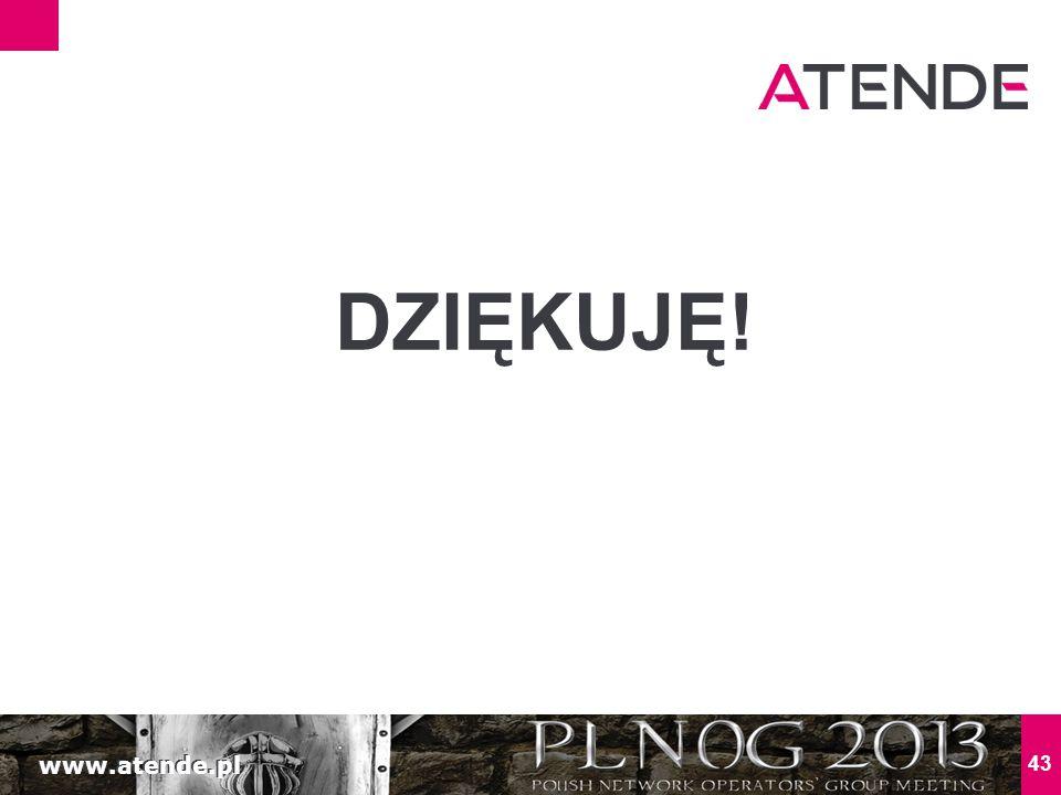 www.atende.pl 43 DZIĘKUJĘ!