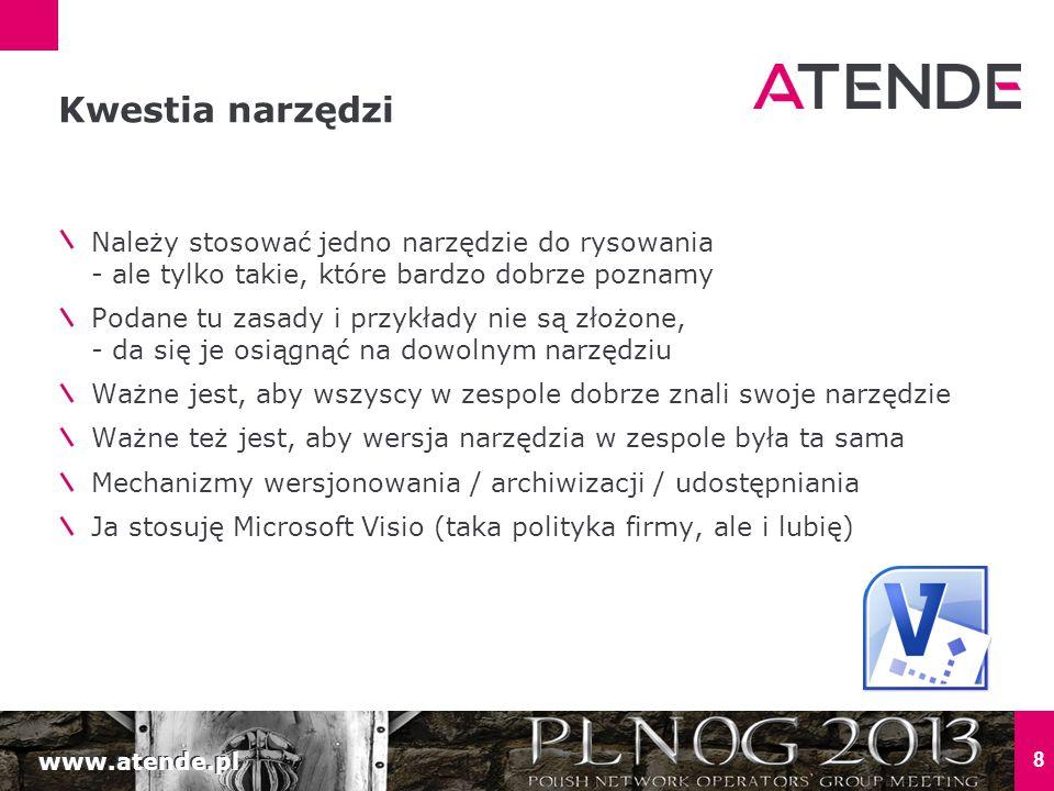 www.atende.pl 8 Należy stosować jedno narzędzie do rysowania - ale tylko takie, które bardzo dobrze poznamy Podane tu zasady i przykłady nie są złożon