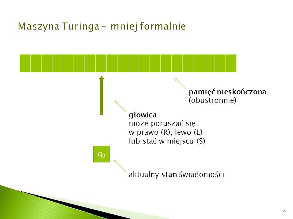 Zadanie 4 Napisz program na maszynę Turinga, który zastępuje w dowolnym tekście zbudowanym z liter A, B, C i D wszystkie literki A literką C.