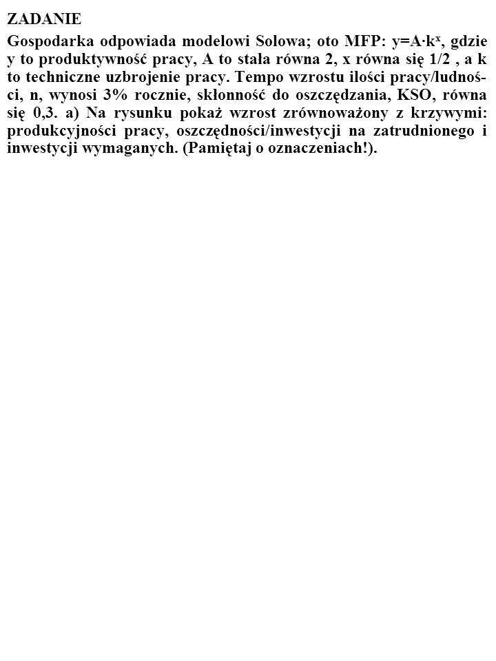 69 Innymi słowy Solow dowiódł, że proces wzrostu jest STABILNY.