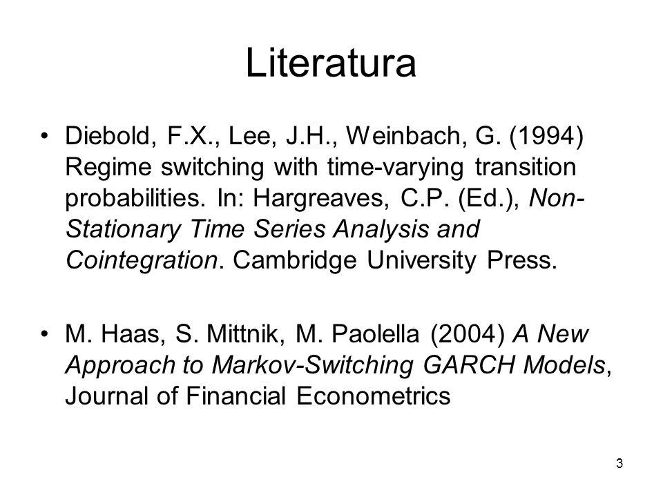 14 Testowanie specyfikacji Breuning, Najarian, Pagan (2003): –Czy specyfikacja modelu MS jest odpowiednia.