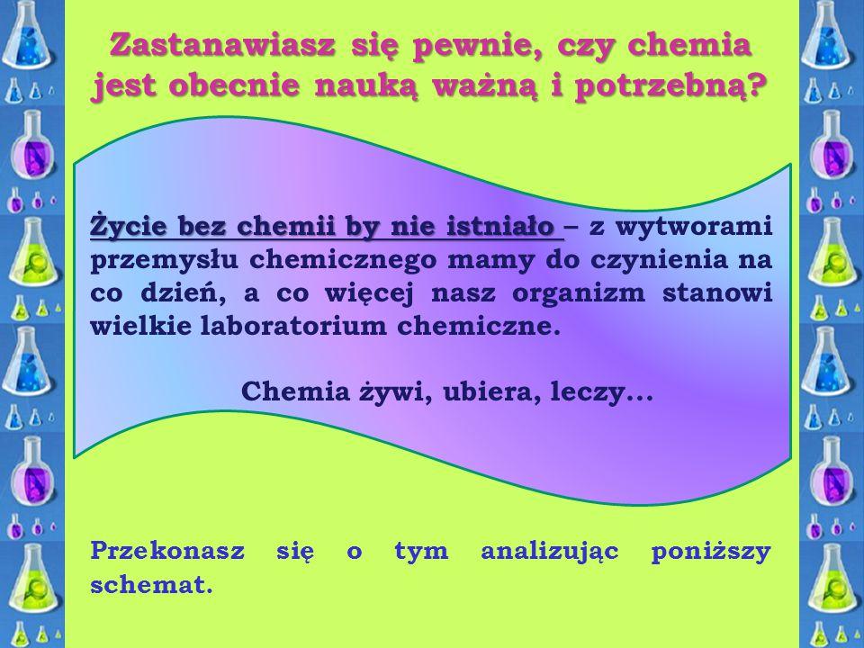 Zastanawiasz się pewnie, czy chemia jest obecnie nauką ważną i potrzebną? Życie bez chemii by nie istniało Życie bez chemii by nie istniało – z wytwor