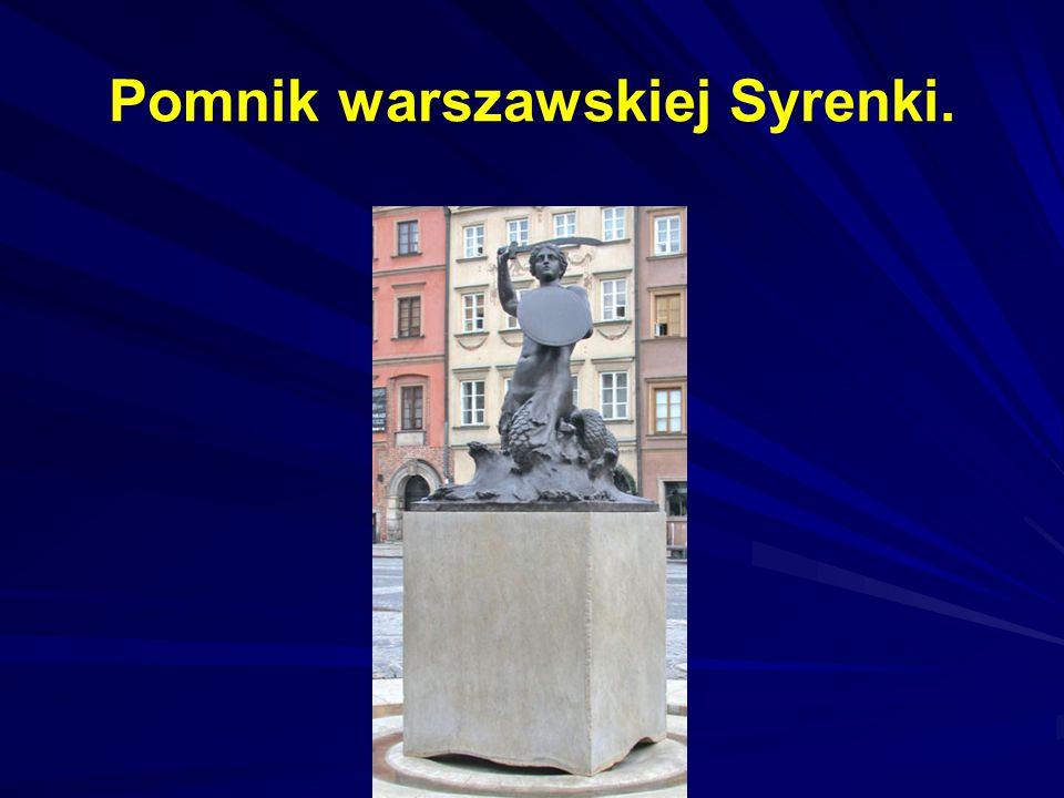Pomnik warszawskiej Syrenki.