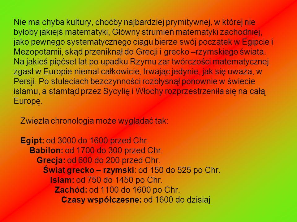 EGIPT Naszą wiedzę o staroegipskim tekście matematycznym czerpiemy z dwóch papirusów : papirusu Rhinda i papirusu moskiewskiego.papirusu Rhinda papirusu moskiewskiego.