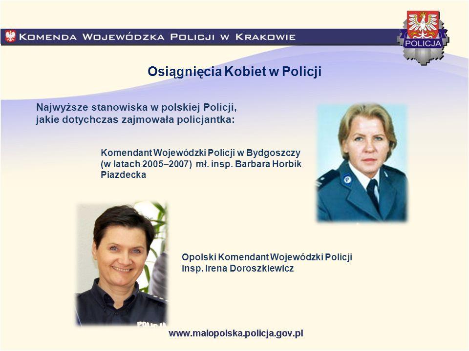Najwyższe stanowiska w polskiej Policji, jakie dotychczas zajmowała policjantka: Osiągnięcia Kobiet w Policji Opolski Komendant Wojewódzki Policji ins