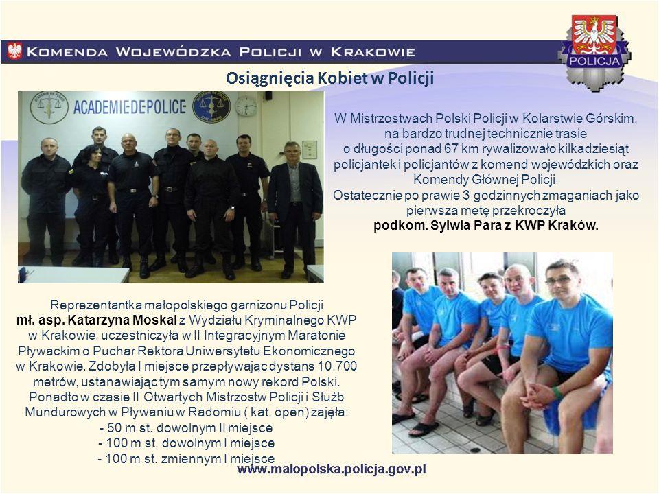 Osiągnięcia Kobiet w Policji W Mistrzostwach Polski Policji w Kolarstwie Górskim, na bardzo trudnej technicznie trasie o długości ponad 67 km rywalizo