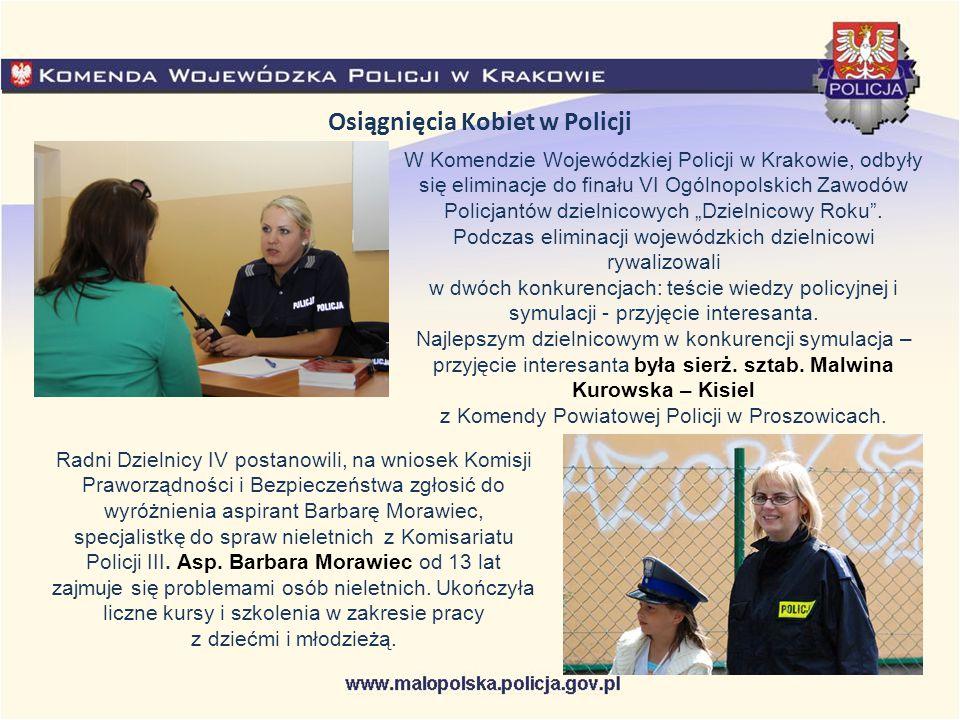 Osiągnięcia Kobiet w Policji W Komendzie Wojewódzkiej Policji w Krakowie, odbyły się eliminacje do finału VI Ogólnopolskich Zawodów Policjantów dzieln
