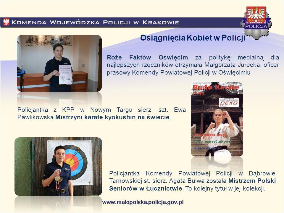 Róże Faktów Oświęcim za politykę medialną dla najlepszych rzeczników otrzymała Małgorzata Jurecka, oficer prasowy Komendy Powiatowej Policji w Oświęci