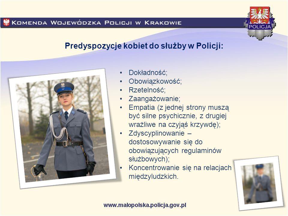 Kobiety w Policji są komendantami, naczelnikami, kierownikami.