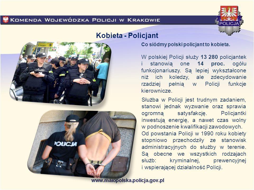 Co siódmy polski policjant to kobieta. W polskiej Policji służy 13 280 policjantek i stanowią one 14 proc. ogółu funkcjonariuszy. Są lepiej wykształco