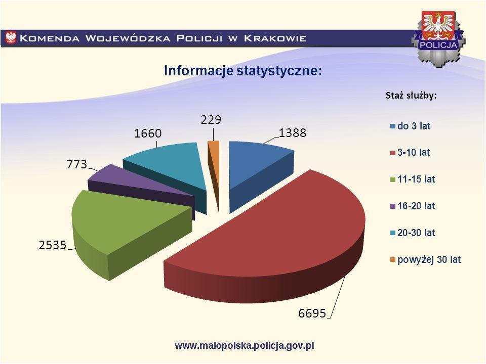 Staż służby: Informacje statystyczne: