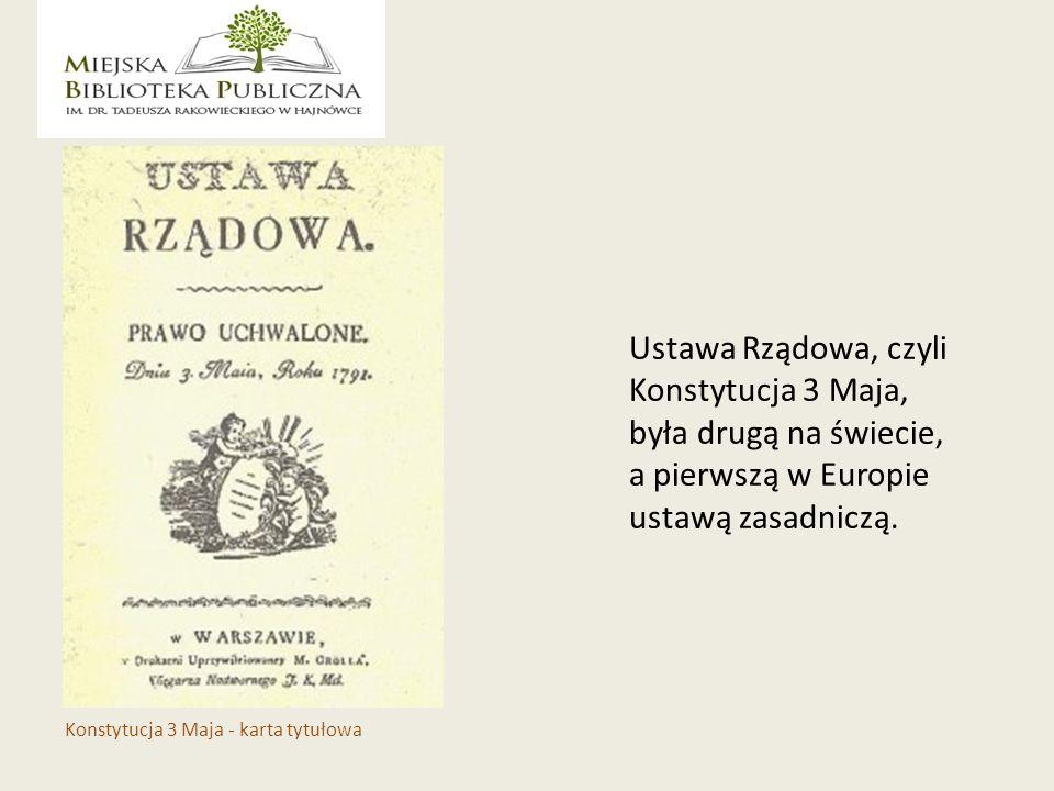Stanisław August Poniatowski Stanisław Małachowski